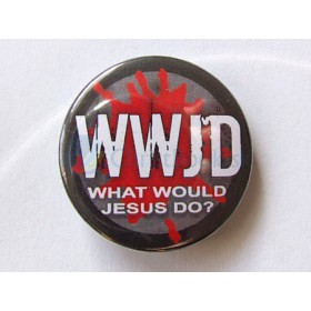 Odznak - WWJD (What Would Jesus Do) (2.5cm)