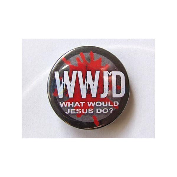 Odznak - WWJD (What Would Jesus Do) (2.5cm)