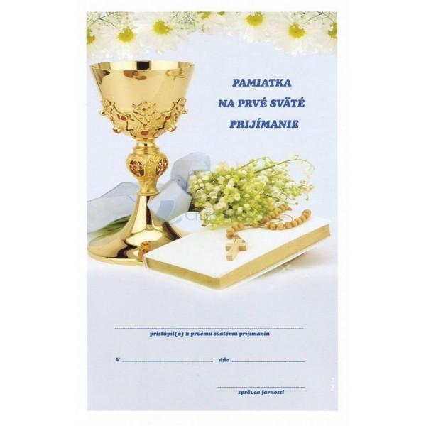 Pamiatka na prvé sväté prijímanie (1)