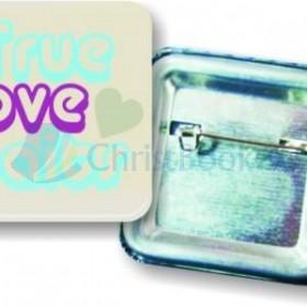 Odznak štvorcový – True love waits (3,7×3,7cm)