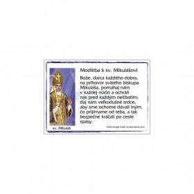 Modlitba k sv. Mikulášovi, magnetka plastová