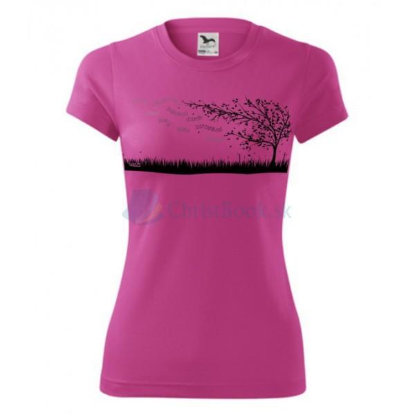 Tričko – Ovocie ducha – (pink)